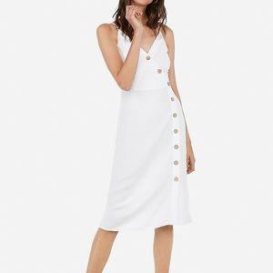Express White Button Front Midi Dress - XS - NWT